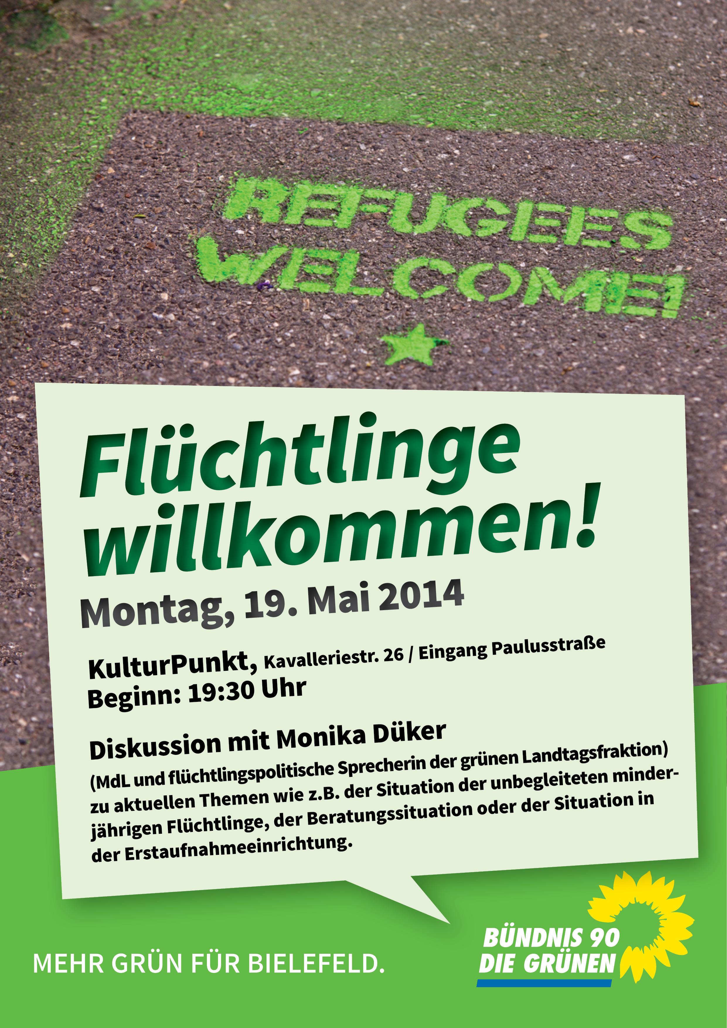 GRÜNE Flüchtlinge