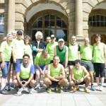 Unsere laufbegeisterte Truppe vor dem Alten Rathaus